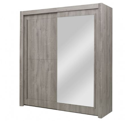 Eden Two Sliding Door Wardrobe Light Grey Oak
